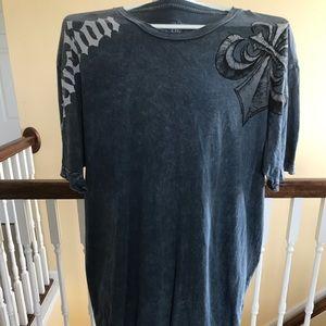 Men's XXL Gray Affliction T shirt